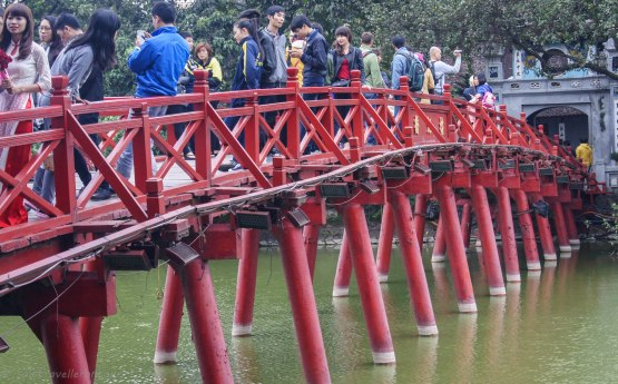 The red bridge at Hoam Kiem Lake