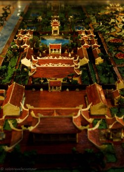 Miniature model of the temple