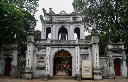 The main entrance of the Temple of Literature