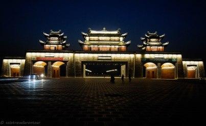 The Ninh Binh gate by night