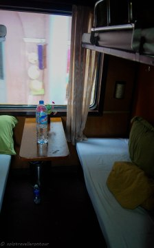Typical soft berth cabin