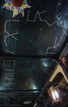 The star ceiling of the theatre of Lang Tu Doc