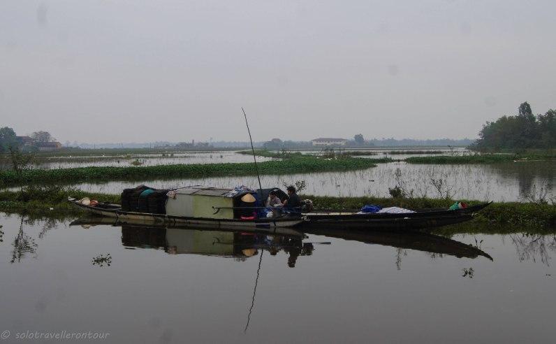 The beautiful surrounding near Thanh Troan Bridge