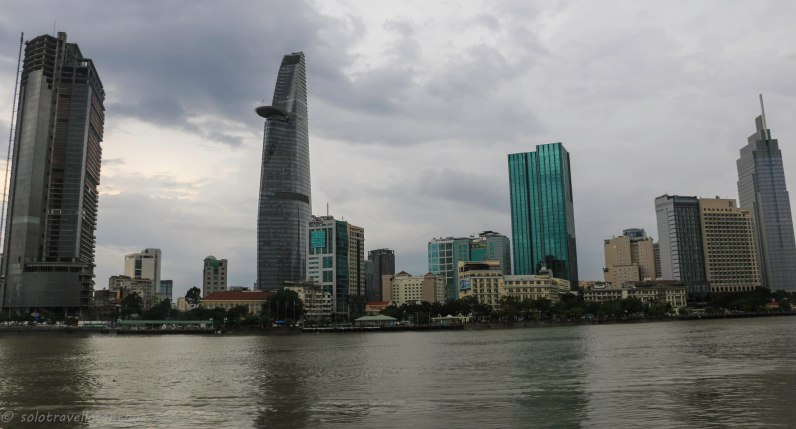 Different view of the HCMC skyline