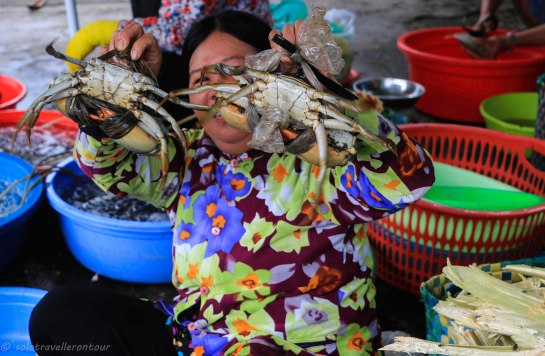 Fresh crab sold on the street