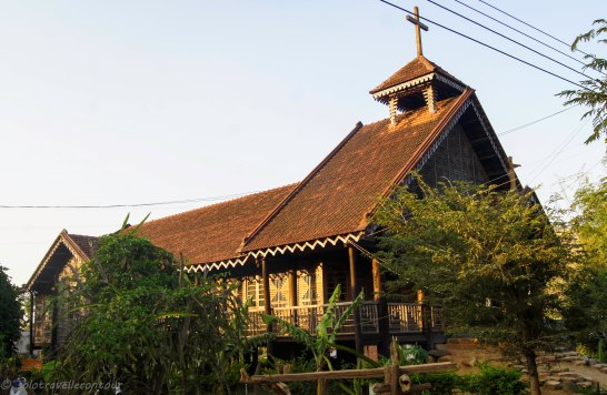 The little wooden church of the village