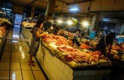 Fresh meat stalls