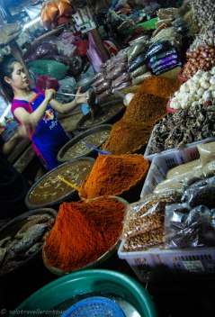Colourful spices at the local market