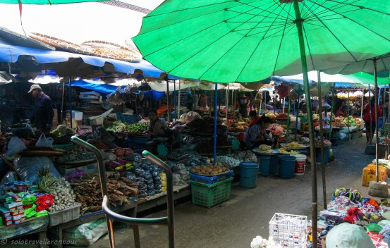 Outdoor area of the market