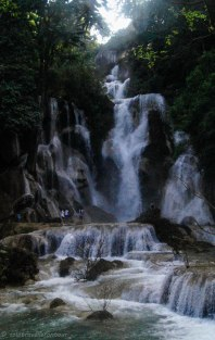 The Kuang Si waterfall is not small