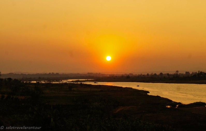 Sun Set of teh area between Kon Tum and the minority village