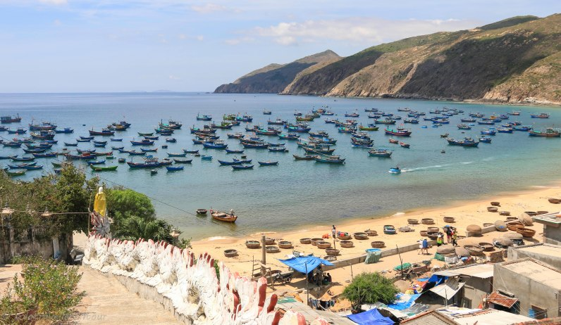 View from temple in Que Huong Nhon Ly