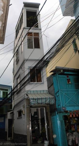 One slim building