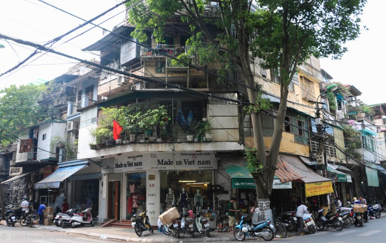 Seeing the usual sight in Hanoi