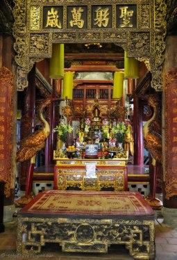 Inside the little temple