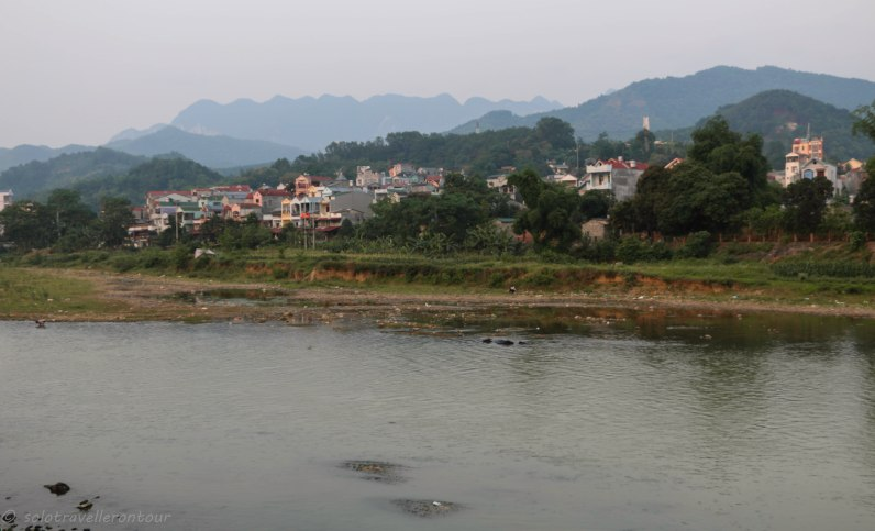View over Cao Bang from my hotel