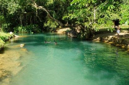 The beautiful blue lagoon