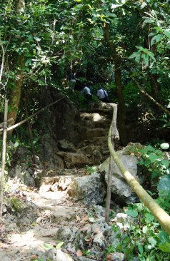 Stairs to the cave entrance