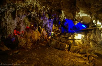 THe colourful light add something nice to the cave