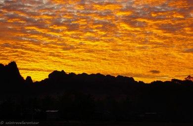 Sunrise in Kong Lo village