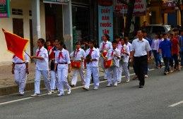 Schoolm parade in Yen Minh