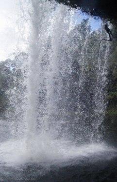 Watching the sheer power of the water crashing down