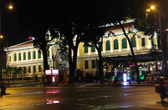 The famous post office by night