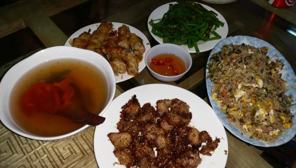 Typcial meal at Ngoc Lan Quan