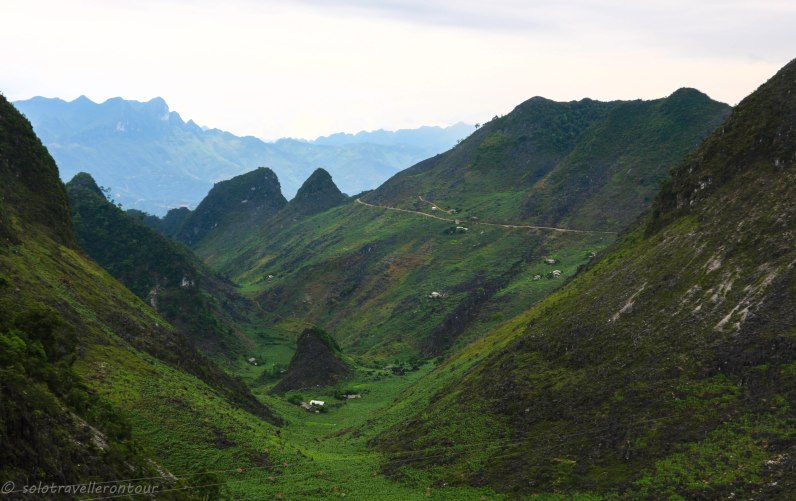 Typical scenery and road of Ha Giang province