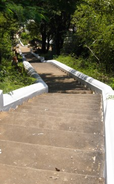 Stairs from the temple to the path