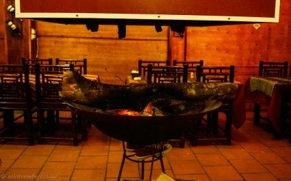 Fireplace inside Gerbera Restaurant