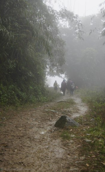 The trekking conditions during raining season is not perfect