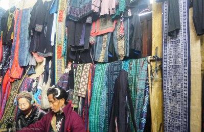 The indoor market in Sapa