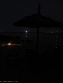 The beach during the night