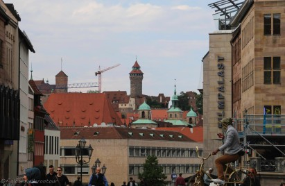View towards the castle from Laurenzkirche