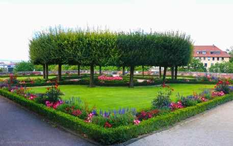 One of the beautiful sections of the Castle gardens