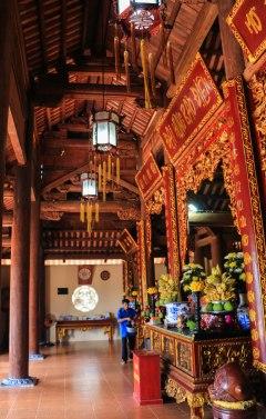 The shrine of Van Song Pagoda