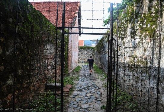 Entering the prisoner area