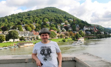 Proof I have been in Heidelberg - on the Theodor-Heuss-Bridge