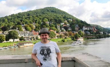 Proof I have been in Heidelberg - on the Theodor-Heuss-Bridge