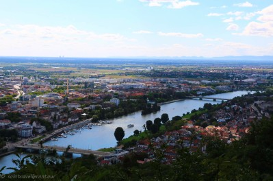 View over Heidelberg's surrounding area