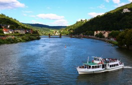 View towards the norhern end of the river Neckar