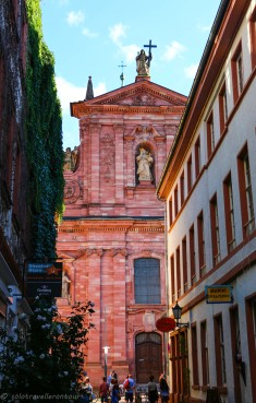 Jesuitenkirche seen from one of the little alleys