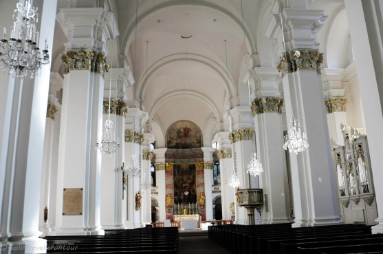 The beautiful interior of the Jesuitenkirche