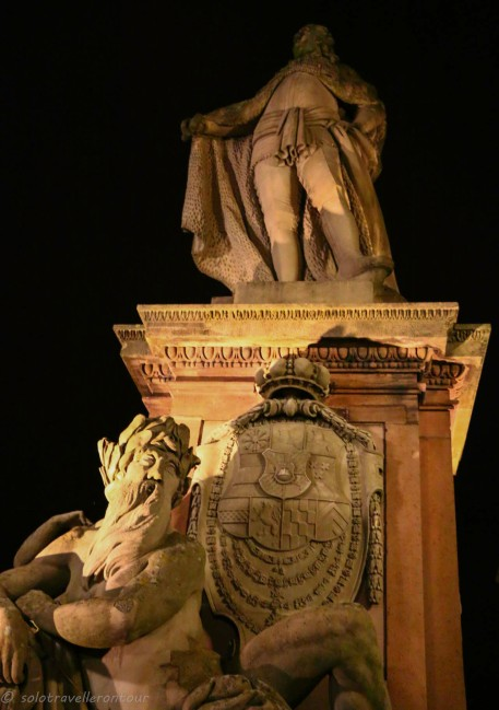 One of the statues on the Old Bridge