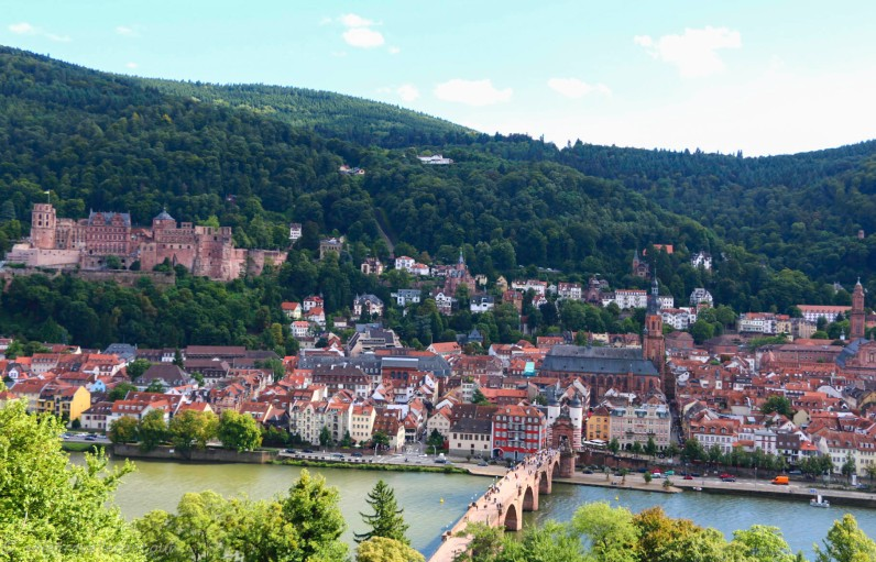 View over the Old Town of Heidelberg