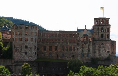 The castle seen from Scheffel Terrace
