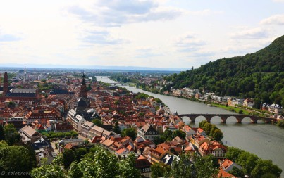 One of the best views over Heidelberg arefrom the Scheffel Terrace