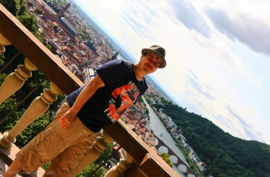 Overlooking Heidelberg from the terrace