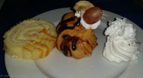 The hotel offered some great sweet deserts....